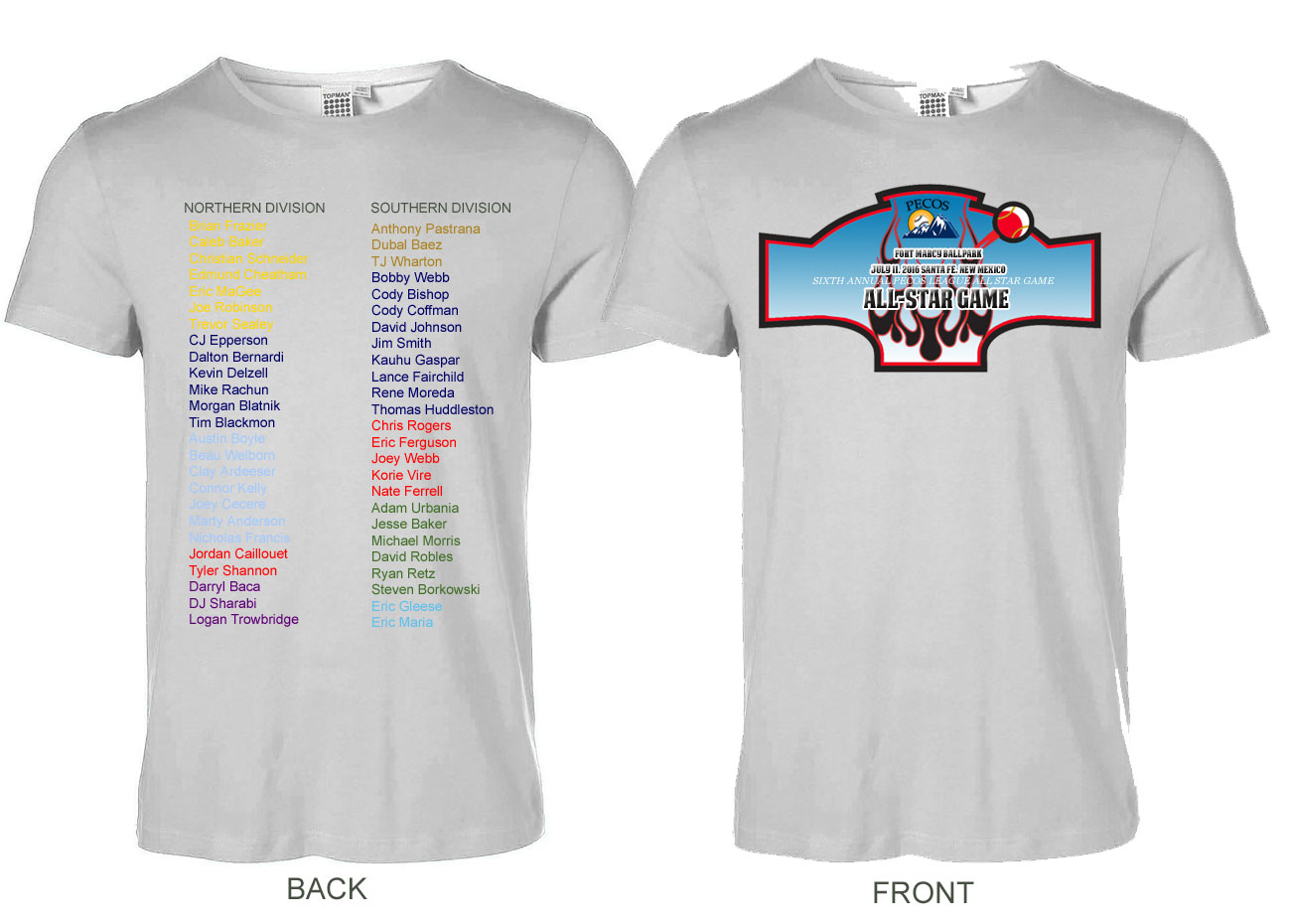 2016 pecos league all star t shirts for All star t shirts