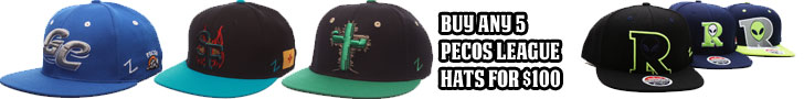 Buy any five Pecos League Hats for $100